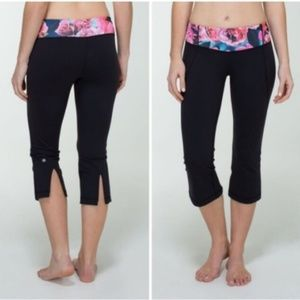 Lululemon Gather and Crow slit crops sz 4